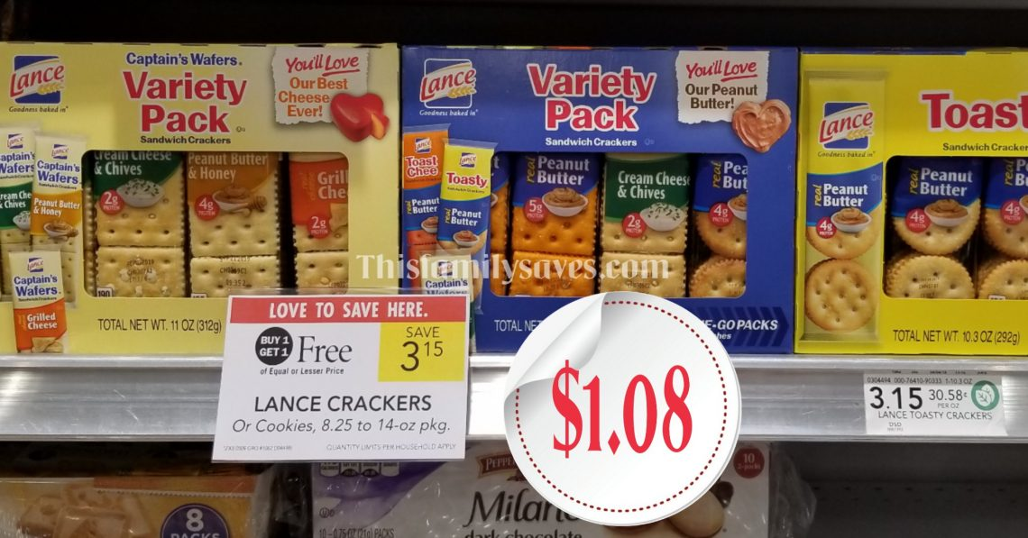 Lance Crackers BOGO at Publix