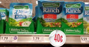 Hidden valley ranch at Publix