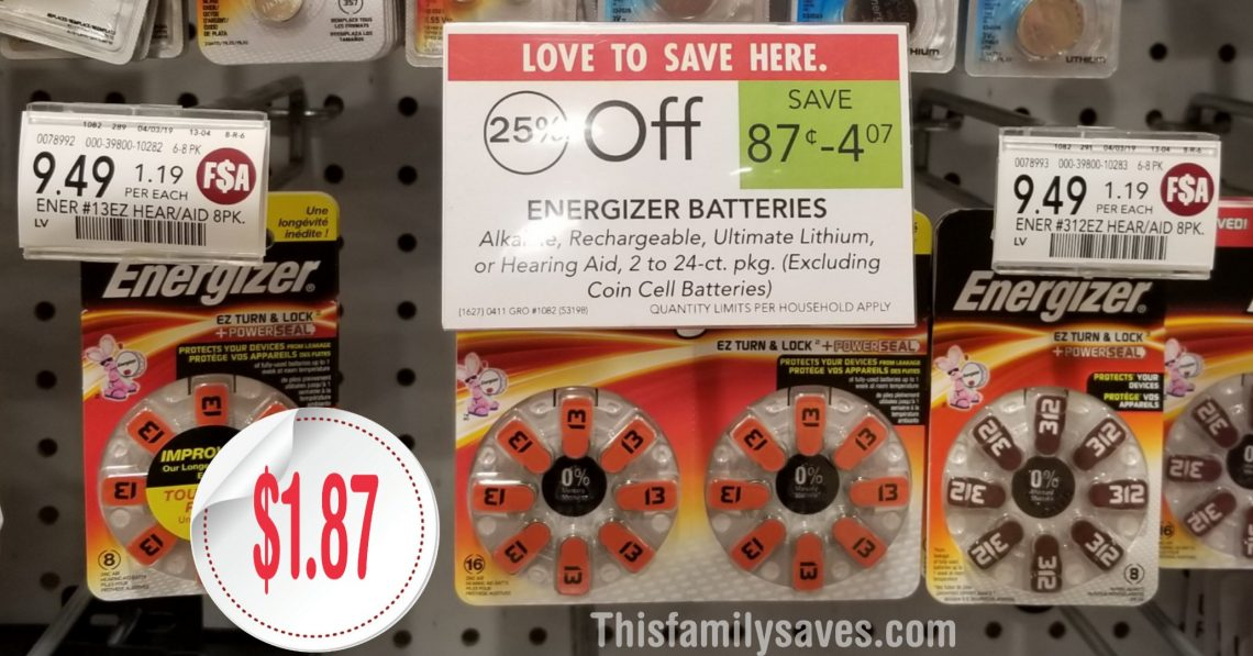 Energizer hearing Aid 25 off - Publix