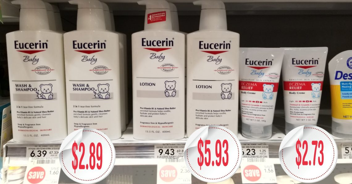 Eucerin Products - Publix Shelf