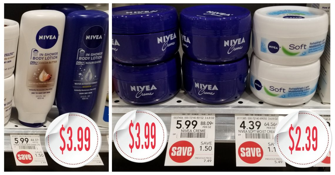 Nivea Products - Publix Shelf