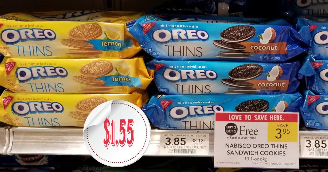 Nabisco Oreo Thins Cookies - Publix BOGO sale
