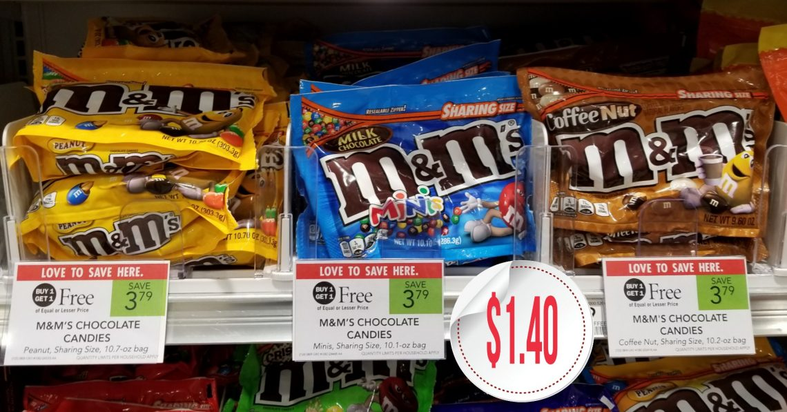 M&M's Chocolate Candies, Sharing Size - Publix BOGO