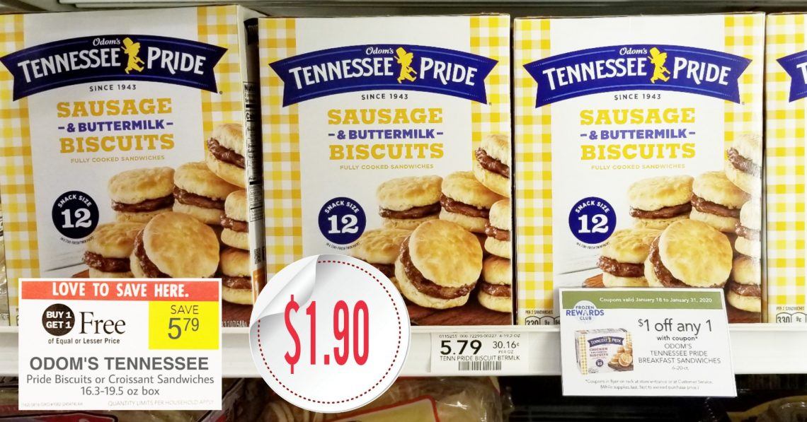 Odom's Tennessee Pride Biscuits - Publix BOGO