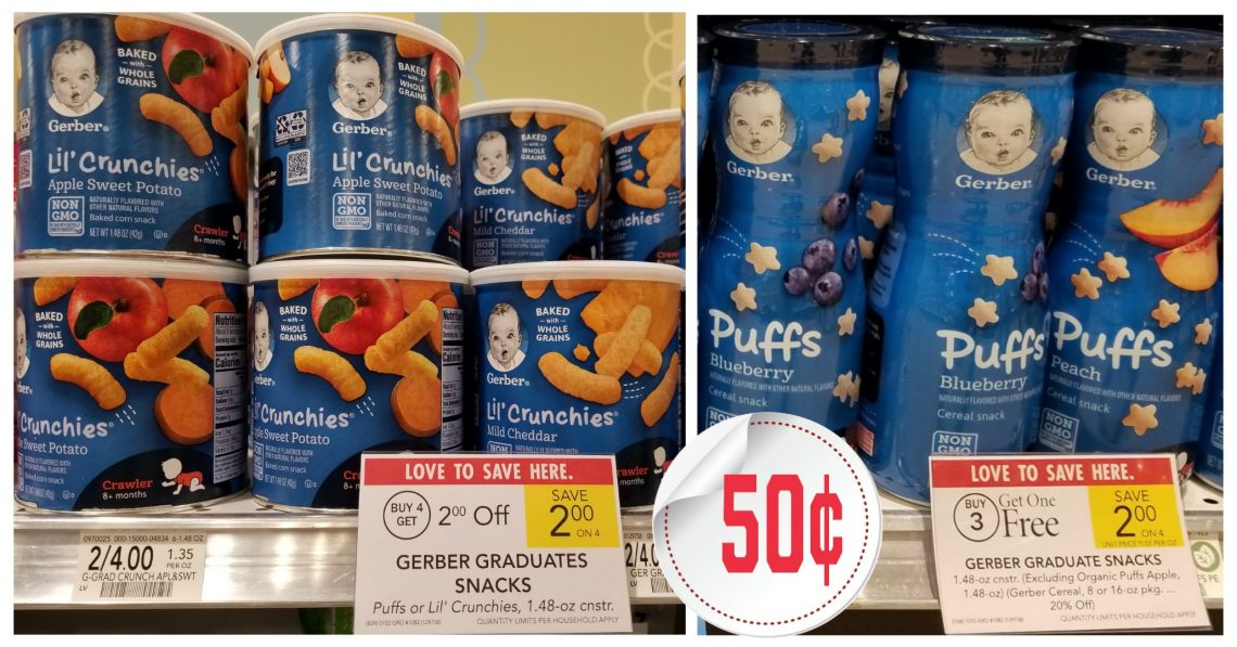 Gerber Snacks - Publix Sale