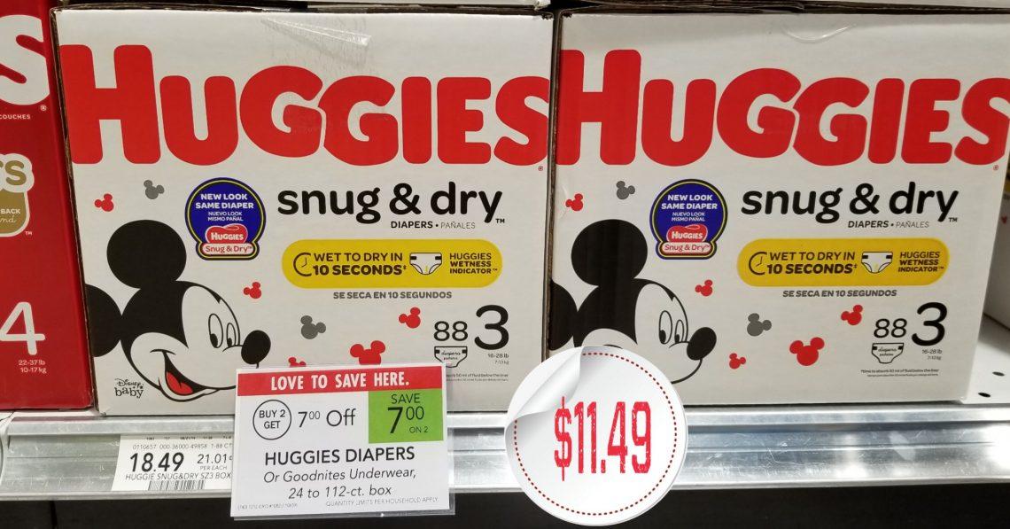 Huggies Snug & Dry Diapers - Boxes