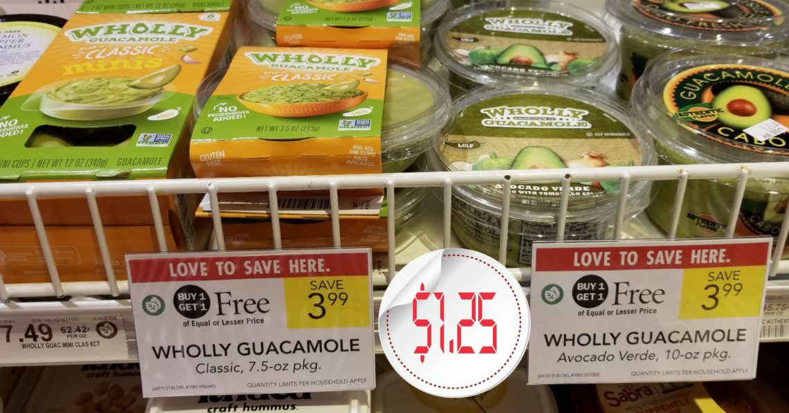 Wholly Guacamole - Publix Bogo