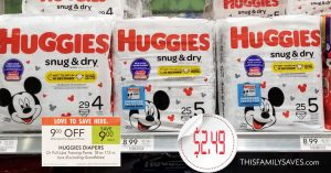 Huggies Snug & Dry Diapers - Publix Sale