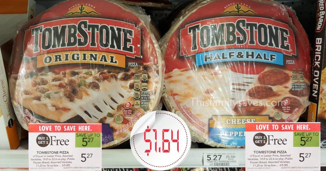 Tombstone Pizza Publix BOGO
