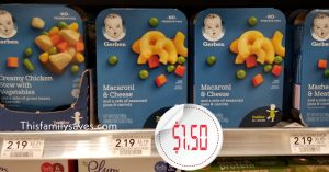 Gerber Meals at Publix