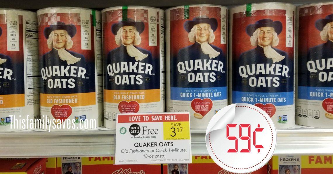 Quaker Oats Publix Sale